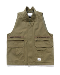 WTAPS Rep / Vest / Cotton. Twill Olive Drab, Outerwear