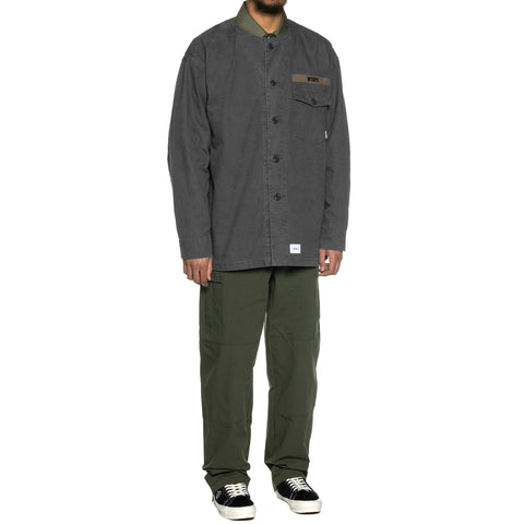 WTAPS Scout LS / Shirt . Cotton . Oxford Gray, Shirts