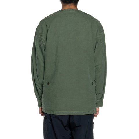 WTAPS Scout LS / Shirt . Cotton . Oxford Olive Drab, Shirts