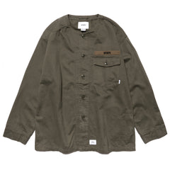 WTAPS Scout LS / Shirt. Cotton. Twill Olive Drab, Tops
