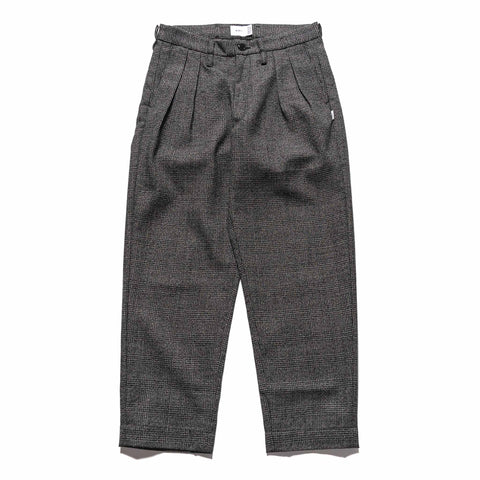 WTAPS Tuck / Trousers / Wool. Tweed. Textile Black, Bottoms