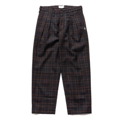 WTAPS Tuck / Trousers / Wool. Tweed. Textile Navy, Bottoms