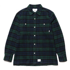 WTAPS Union LS / Shirt. Cotton. Twill. Textile Green, Tops