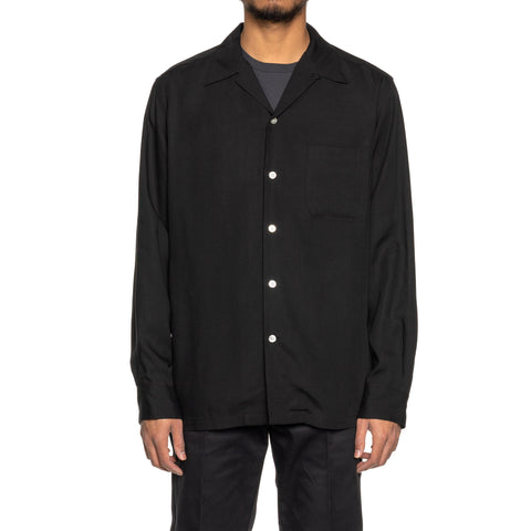 WACKO MARIA 50's Shirt L/S (TYPE-2) Black, Shirts