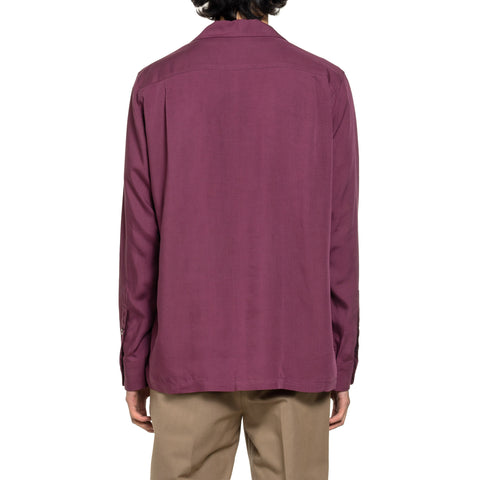 WACKO MARIA 50's Shirt L/S (Type-2) Burgundy, Tops