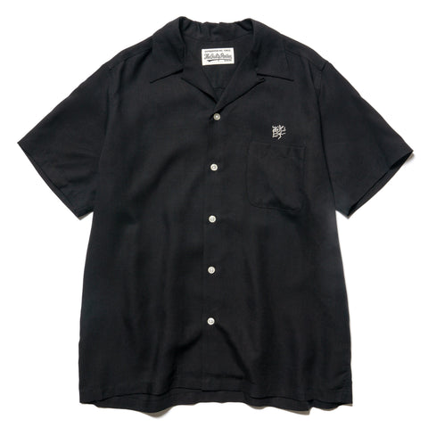 WACKO MARIA 50s Shirt S/S (Type-4) Black, Tops
