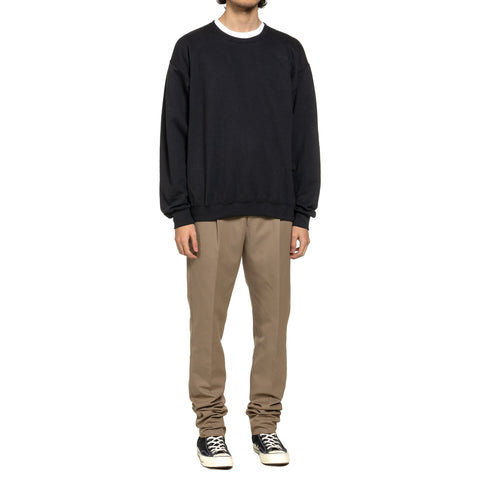 WACKO MARIA Crew Neck Sweat Shirt (Type-7) Black, Sweaters