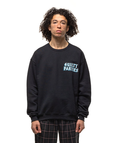 WACKO MARIA Crew Neck Sweat Shirt (Type-10) Black, Sweaters