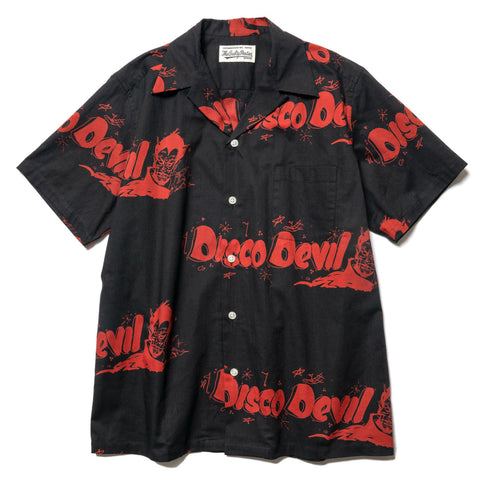 WACKO MARIA Disco Devil S/S Hawaiian Shirt (Type-1) Black, Tops
