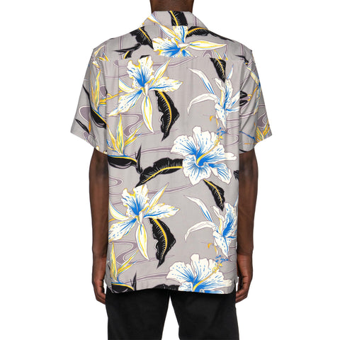 WACKO MARIA Hawaiian Shirt S/S (Type-8) Gray, Tops