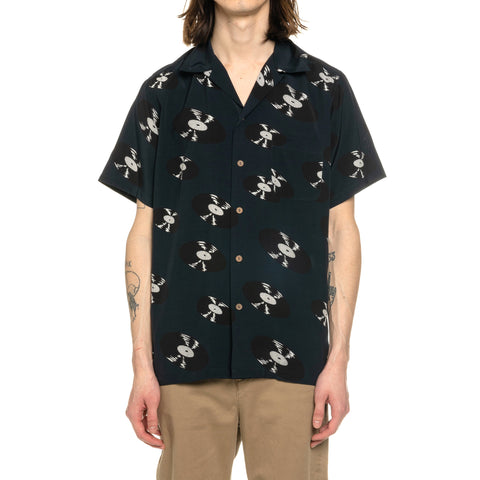 Wacko Maria Hawaiian Shirt S/S (Type-1) Navy, Shirts