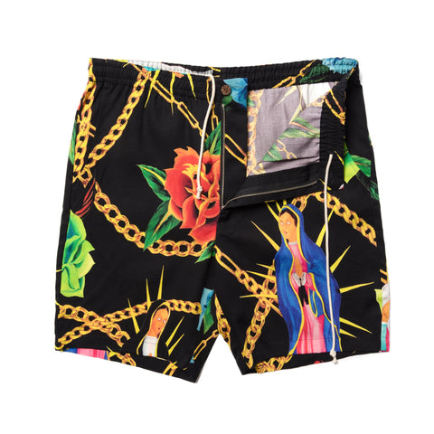 WACKO MARIA Hawaiian Shorts (Type-2) Black, Bottoms