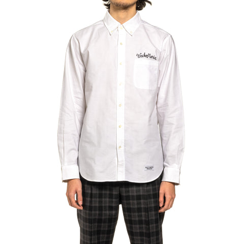 WACKO MARIA Oxford B.D Shirt (Type-1) White, Tops