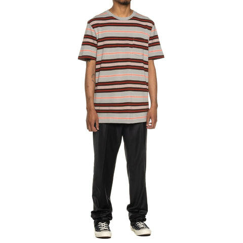 WACKO MARIA Striped Crew Neck T- Shirt (Type-3) Orange, T-Shirts