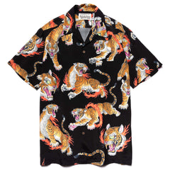 WACKO MARIA Tim Lehi / S/S Hawaiian Shirt (Type-2) Black, Shirts
