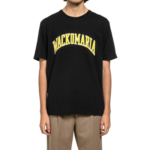 WACKO MARIA Washed Heavy Weight Crew Neck T-Shirt (Type-4) Black, T-Shirts