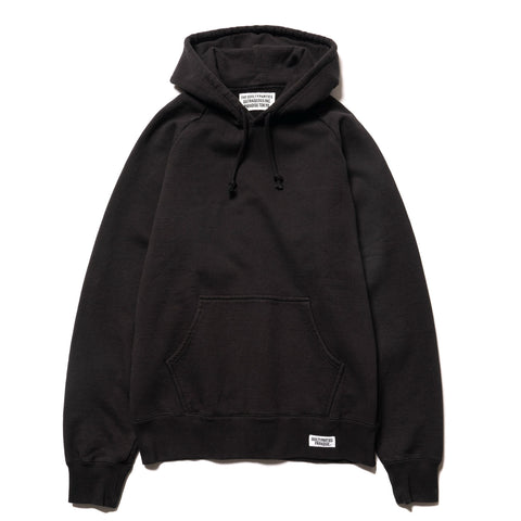 WACKO MARIA Washed Heavy Weight Pullover Hooded Sweat Shirt (Type-1) Black, Sweaters