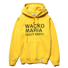 WACKO MARIA Washed Heavy Weight Pullover Hooded Sweat Shirt (Type-2) Yellow, Sweaters