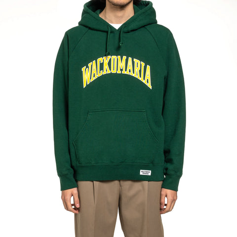 WACKO MARIA Washed Heavy Weight Pullover Hooded Sweat Shirt (Type-6) Green, Sweaters