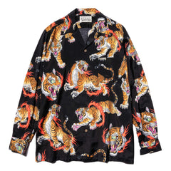 WACKO MARIA x Tim Lehi L/S Hawaiian Shirt (Type-1) Black, Tops