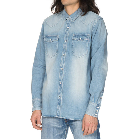 HAVEN Washed Denim Western Shirt