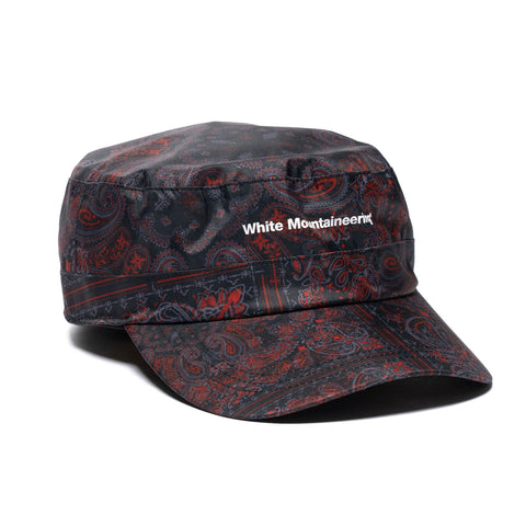 White Mountaineering Bandana Printed Work Cap Black, Headwear