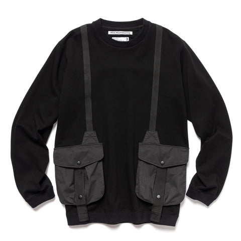 White Mountaineering Hunting Pocket Taped Sweatshirt Black, Shirts