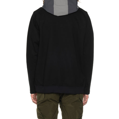White Mountaineering Contrasted Hoodie Black, Sweaters