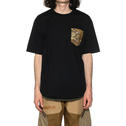 White Mountaineering Layered Camo Printed Pocket T-Shirt Black, T-Shirts