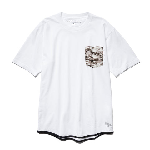 White Mountaineering Layered Camo Printed Pocket T-Shirt White, T-Shirts