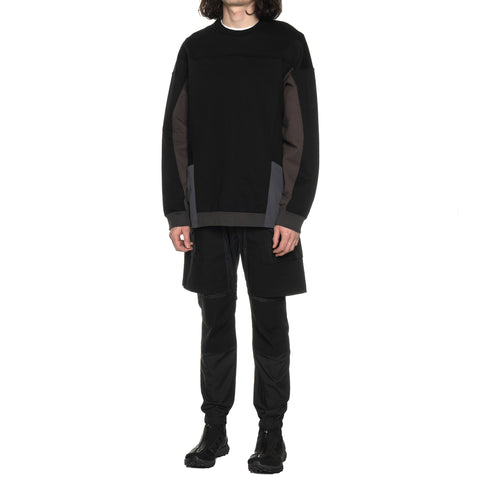 White Mountaineering Contrasted Sweatshirt Black, Shirts