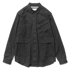 White Mountaineering Luggage Pocket Shirt Charcoal, Tops