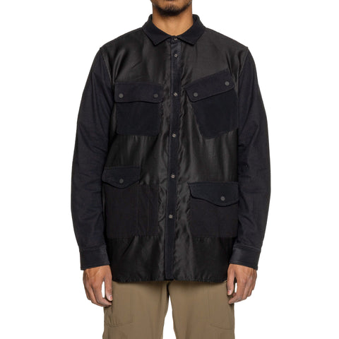 White Mountaineering Mixed Fabric Hunting Shirt Black, Shirts