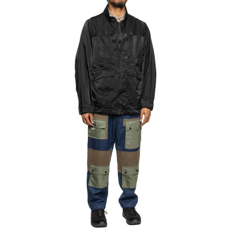 White Mountaineering Shrinked Contrasted Jacket Black, Outerwear