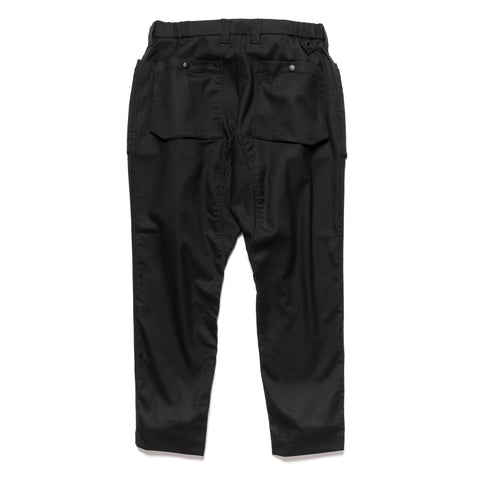 White Mountaineering Stretched Saxony Double Pocket Pants Black, Bottoms