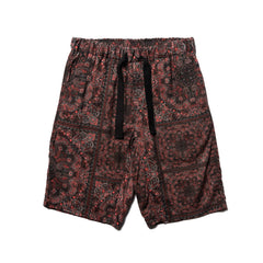 White Mountaineering Bandana Printed Easy Short Pants Black, Bottoms