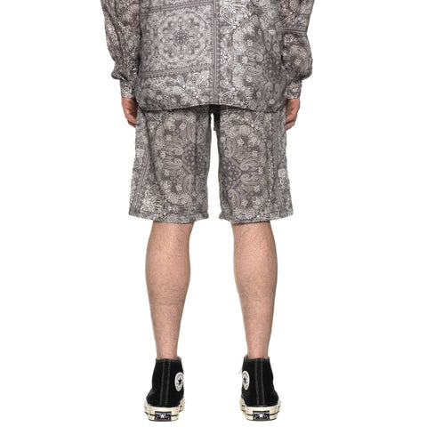 White Mountaineering Bandana Printed Easy Short Pants Gray, Bottoms