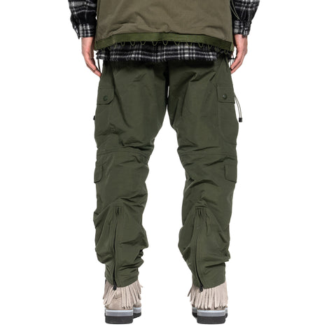 White Mountaineering Multi Pocket Parachute Pants Khaki, Bottoms