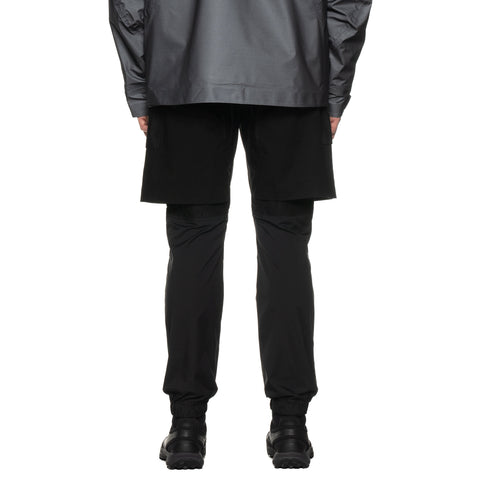 White Mountaineering Stretched Layered Pants Black, Bottoms