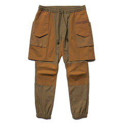 White Mountaineering Stretched Layered Pants Khaki, Bottoms