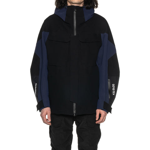 White Mountaineering GORE-TEX® Contrasted Hooded Parka Black, Outerwear