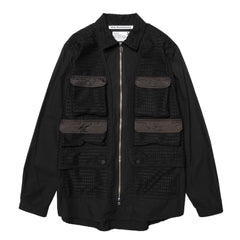 White Mountaineering Woven Shirt Vest Black, Shirts