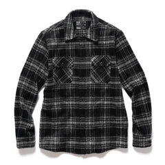 HAVEN Woodland Zip Shirt - Wool Flannel Black, Shirts