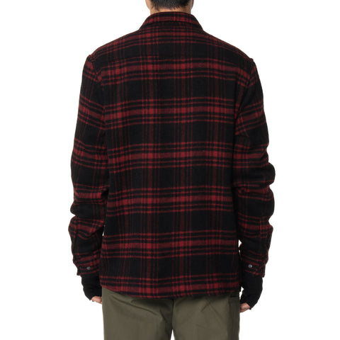HAVEN Woodland Zip Shirt - Wool Flannel Red, Shirts