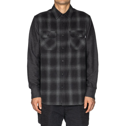 HAVEN Work Shirt - Cotton Flannel Black, Shirts
