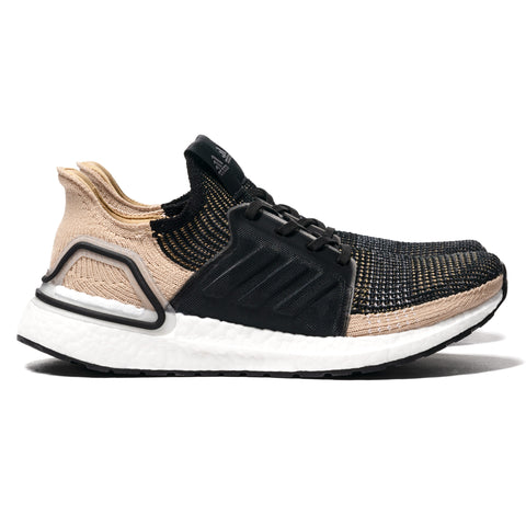 adidas Ultraboost 19 Core Black/Raw Sand, Footwear