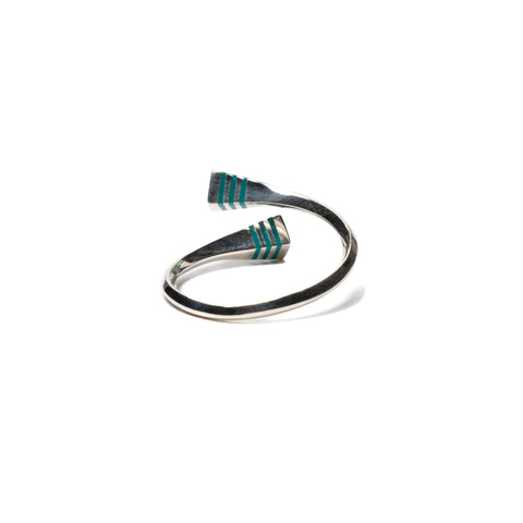 hobo 925 Silver Line Wrap Ring Blue, Accessories