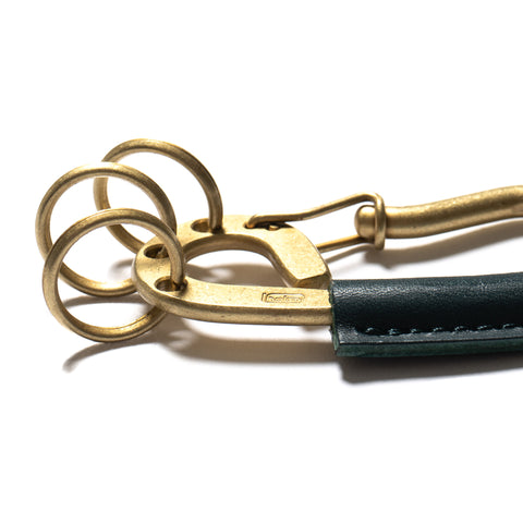 hobo Brass Carabiner Key Ring with Cow Leather Brass