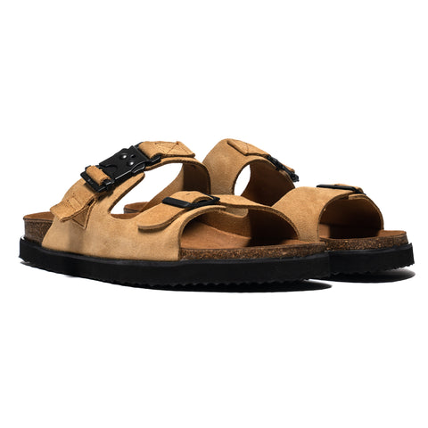 hobo Cow Leather Sandal with Utility Buckle Beige, Footwear