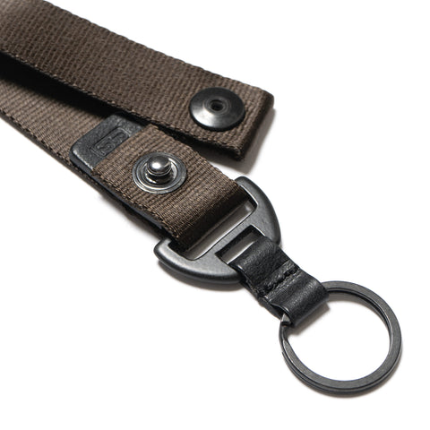 hobo Nylon Tape Key Ring with Snap Button Olive
